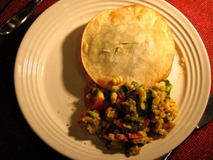 Tortilla Sandwich and Grilled Corn Salad