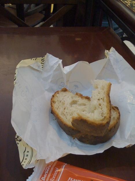 Overcooked bread
